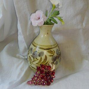 Vintage Red & Pink Grape Cluster Brooch